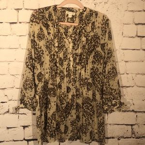 Coldwater Creek Soft Floral Tunic Top Large 14-16
